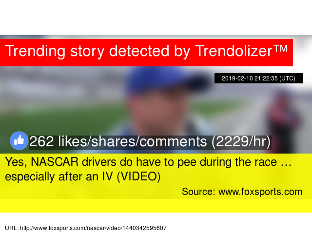 what do nascar drivers do if they have to pee
