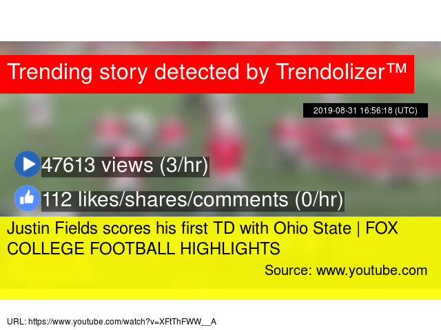 Justin Fields scores his first TD with Ohio State | FOX