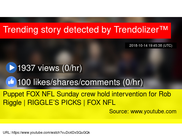 Puppet FOX NFL Sunday crew hold intervention for Rob Riggle